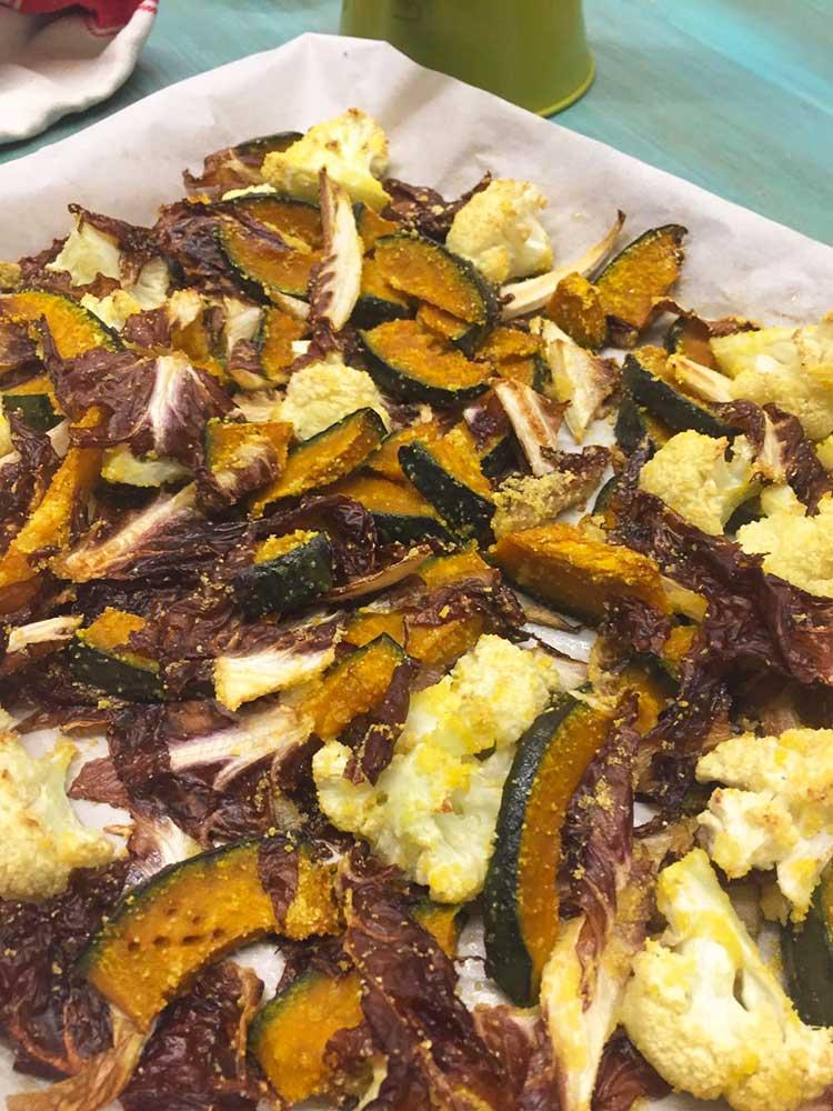 Contorno di verdure invernali al forno