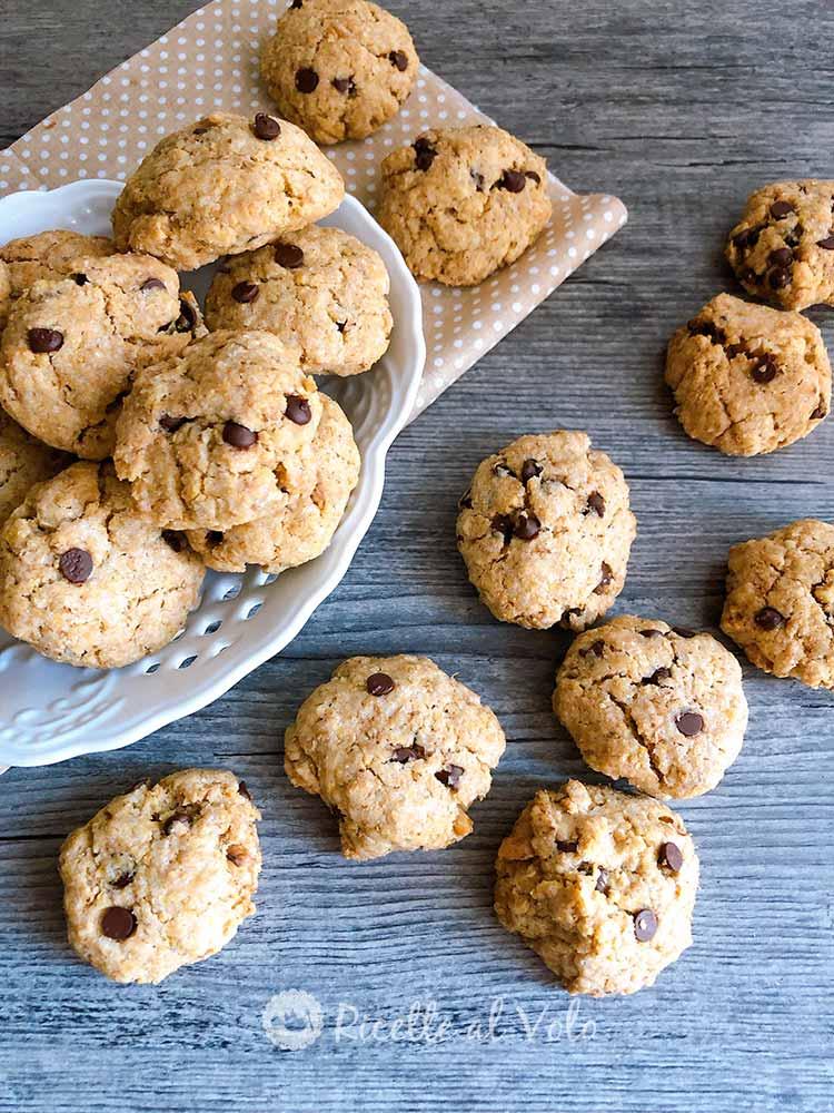 Cookies integrali con gocce di cioccolato