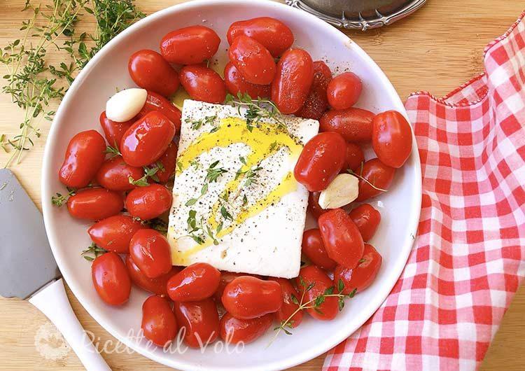 Feta al forno con pomodorini