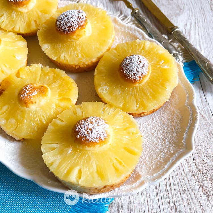 Ciambelline all'ananas tortine soffici