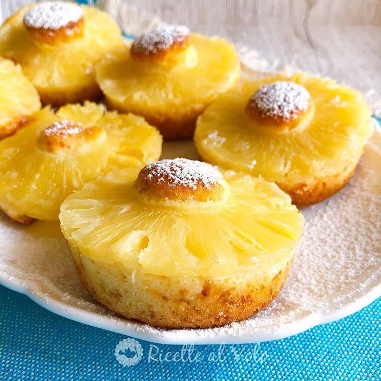 Ciambelline all'ananas tortine soffici